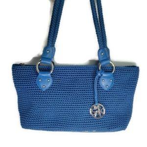 The Sak blue crochet shoulder bag purse